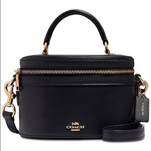 COACH Trail Bag in Smooth Leather Black